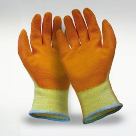 Pro Scan Knit Shell Latex Palm Orange Gloves