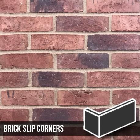 Urban Weathered Red Brick Slip Corners