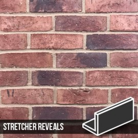 Urban Weathered Red Brick Slip Stretcher Reveal