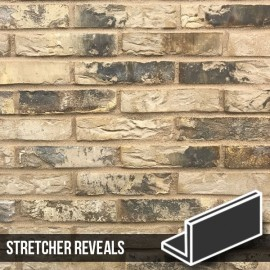 Olde London Mixture Brick Slip Stretcher Reveal