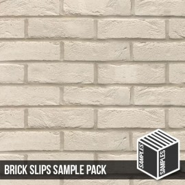 Manhattan White Brick Slip - Sample