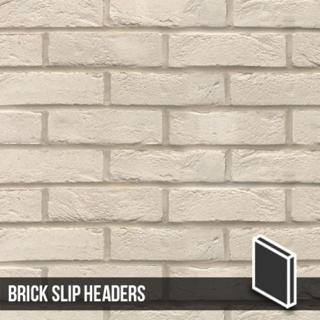 Manhattan White Brick Slip Header