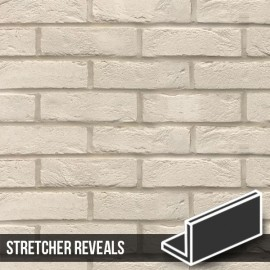 Manhattan White Brick Slip Header Stretcher Reveal