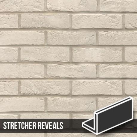 Manhattan White Brick Slip Header Stretcher Reveal