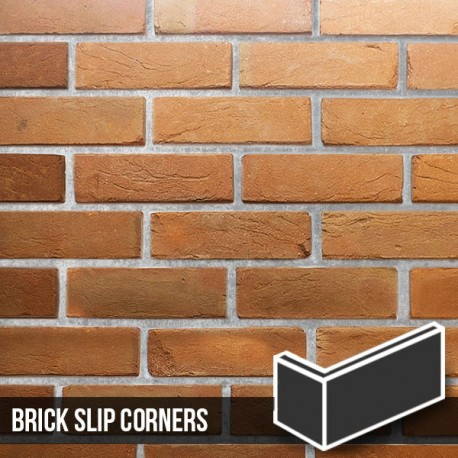 Heritage Soft Orange Reclaimed Brick Slip Corners