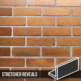 Heritage Soft Orange Reclaimed Brick Slip Stretcher Reveal