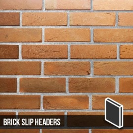 Heritage Soft Orange Reclaimed Brick Slip Header