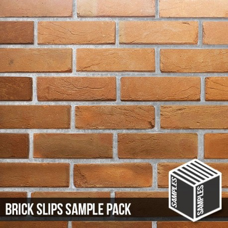 Heritage Soft Orange Reclaimed Brick Slip - Sample