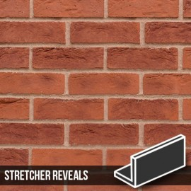 Hastings Red Blend Brick Slip Stretcher Reveal