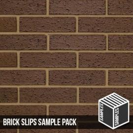 Brown Rustic Brick Slip - Sample