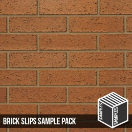 Red Rustic Brick Slips - Sample