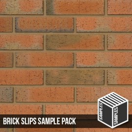 Multi Rustic Brick Slips - Sample