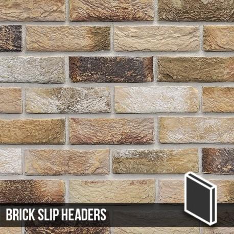 London Weathered Yellow Brick Slip Header