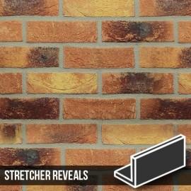 Lambeth Mixture Brick Slip Stretcher Reveal