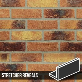 Lambeth Mixture Brick Slip Stretcher Reveal