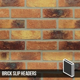 Lambeth Mixture Brick Slip Header