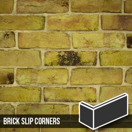 Reclamation Yellow Stock Brick Slip Corners