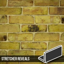 Reclamation Yellow Stock Brick Slip Stretcher Reveal