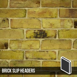 Reclamation Yellow Stock Brick Slip Header