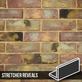 Reclaimed Coach House Brick Slip Stretcher Reveal