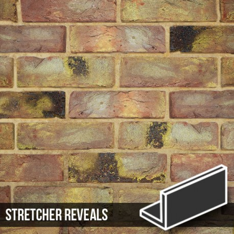Reclaimed Coach House Brick Slip Stretcher Reveal