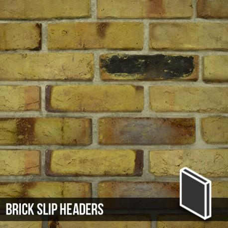 Reclaimed Weathered Yellow Brick Slip Header