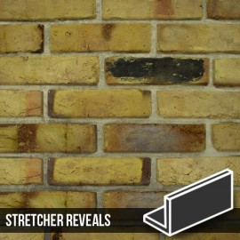Reclaimed Weathered Yellow Brick Slip Stretcher Reveal