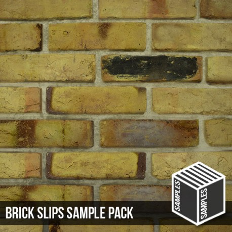 Reclaimed Weathered Yellow Brick Slip - Sample