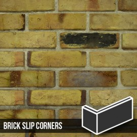 Reclaimed Weathered Yellow Brick Slip Corners
