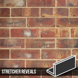 Olde Victorian Red Blend Brick Slip Stretcher Reveal