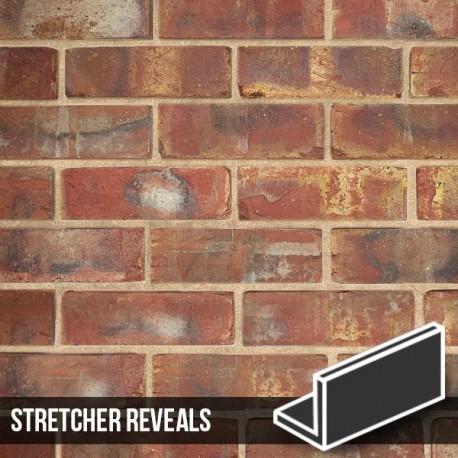 Olde Victorian Red Blend Brick Slip Stretcher Reveal