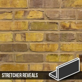 Olde Victorian Yellow Blend Brick Slip Stretcher Reveal
