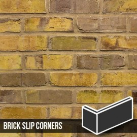 Olde Victorian Yellow Blend Brick Slip Corners