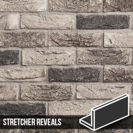 Atom Grey Brick Slip Stretcher Reveal