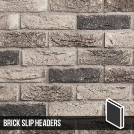 Atom Grey Brick Slip Header