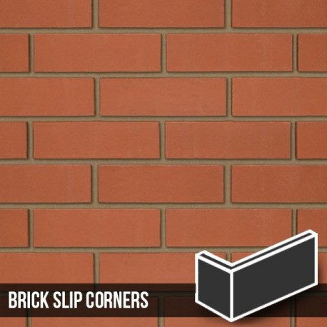 Smooth Red Brick Slip Corners