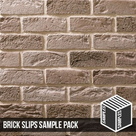 Silver Grey Brick Slip - Sample