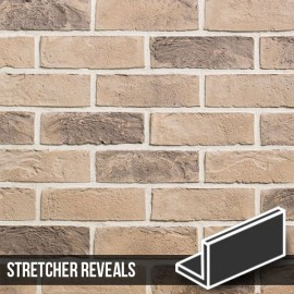 Kensington Buff Multi Brick Slip Stretcher Reveal