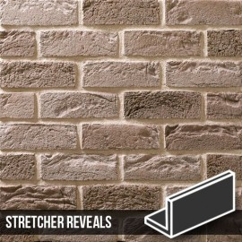 Silver Grey Brick Slip Stretcher Reveal