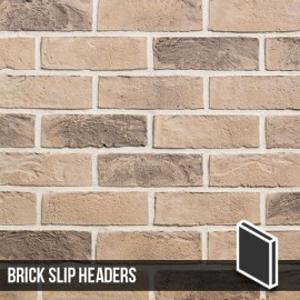 Kensington Buff Multi Brick Slip Header