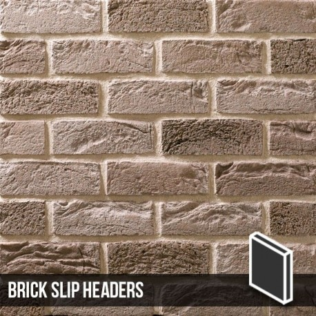 Silver Grey Brick Slip header