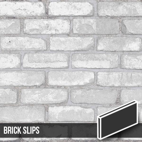 olde victorian reclaimed white painted brick slips