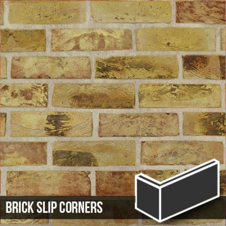 London Reclaimed Yellow Stock Brick Slip Corners