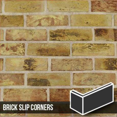London Reclaimed Yellow Stock Brick Slip Corners