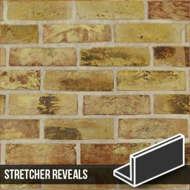 London Reclaimed Yellow Stock Brick Slip Stretcher Reveal