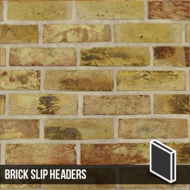London Reclaimed Yellow Stock Brick Slip Stetcher Reveal