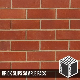 Reclaimed Red Cut Face Brick Slip - Sample