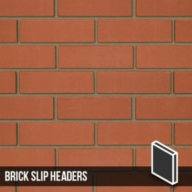 Smooth Red Brick Slip Headers