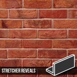 Antique Mixture Brick Slip Stretcher Reveal