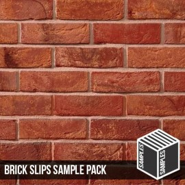 Antique Mixture Brick Slip - Sample